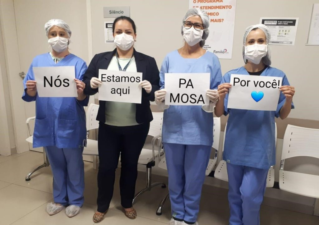 equipe de emergência do Médicos de Olhos S.A