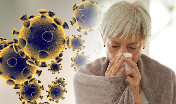 mulher com gripe por causa do coronavírus